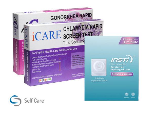 Testen van hiv- en soa's op klein pakket